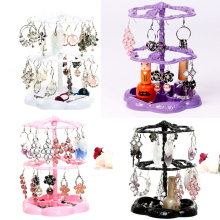 Chic Rose Pattern Jewelry Necklace Stand Display Organizer Holder Show Rack