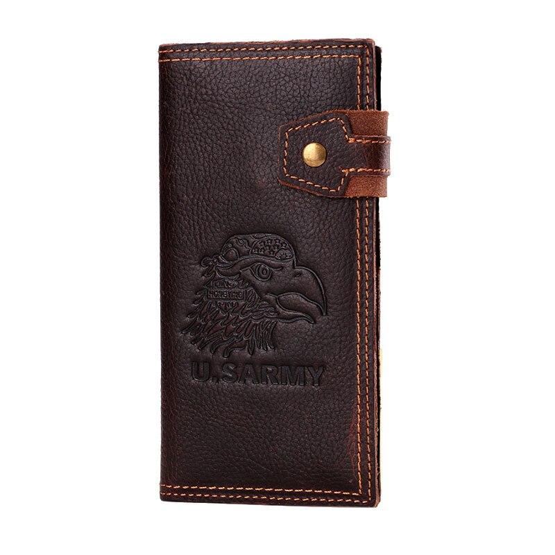 Genuine leather men wallets purse long leather mens wallet genuine wallet man with coin pocket men wallets male clutch purse W63<br><br>Aliexpress