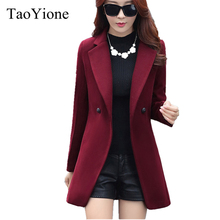 2017 New Women Winter Jacket High Quality Wool Coat Fashion Long Women's Coat Slim Collar Woolen Jackets Coats Female Clothing(China)