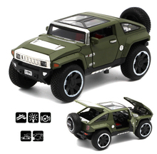 1:32 Hummer HX alloy model Car off-road vehicle With Pull Back Function/Music/Light/Openable Door As Gift For Kids Free Shipping(China)
