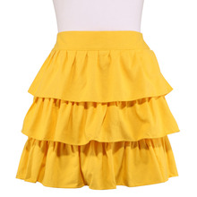 Neoviva Heavy Weight Canvas Waist Apron for Women with Ruffles, Style Susan, Solid Blazing Yellow
