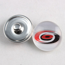 20 Pcs 18mm Hockey Team Button Snaps Carolina Hurricanes Snap Charms For Snap Button Bracelet Necklace(China)