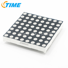 20PCS 5mm LED Dot Matrix Display 8x8  Red Common Cathode high quality free shipping