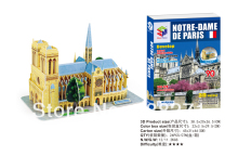 Clearance Sale Educational toys for children 3D Puzzle building model the Notre Dame de Paris 3D three-dimensional puzzles