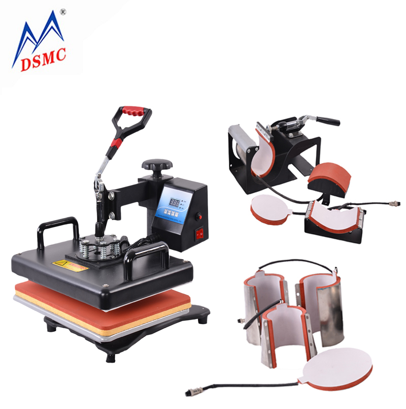 Factory Promotions 30*38CM 8 in 1 Combo Heat Press transfer Machine Sublimation Printer For Mug/Cap/T shirt/Phone Cases
