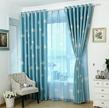 Eco-friendly Curtains for Kids Cartoon Curtains for Children's Bed Room Sheer Curtains Blackout Curtains Yellow Blue Pink(China)