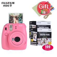 Fujifilm Instax Mini 9 Camera Kit Set Film Camera Photo Instant Camera With 100 * Film + Photo Frame +Clip+String Christmas Gift(China)