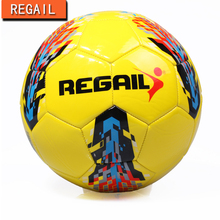 REGAIL yellow Traditional Soccer Ball Size 5