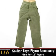 1:6 Pants Dragon DML Model WWII German Soldier Figures Clothing Accessories Green Pants Trousers For Military Action Figure Body