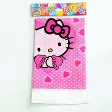 1pc 180*108cm Hello Kitty Table Cloth Table Cover Cartoon Disposable Table Cloth Map Home Kid Boy Birthday(China)