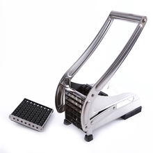 Stainless Steel Home French Fries Cutters Potato Chips Strip Cutting Machine Maker Slicer Chopper Dicer + 2 Blades