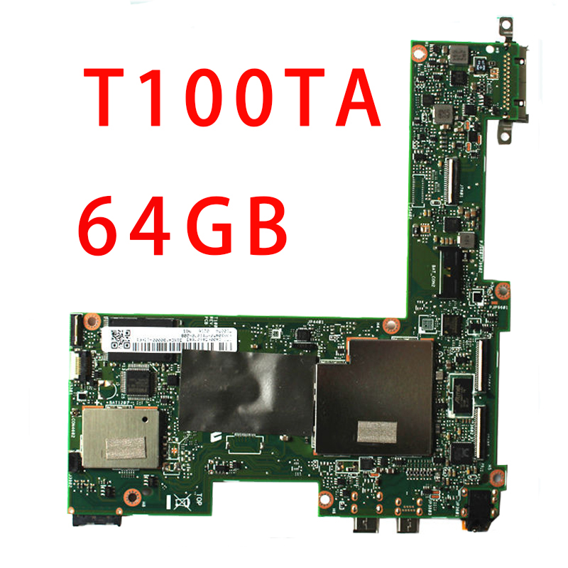 HOT selling Asus Transformer T100TA Tablet Motherboard 64GB Atom 1.33Ghz CPU 60NB0450-MB1070(China)