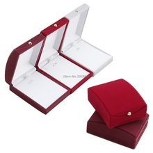 Fashion Velvet Jewelry Case Ring Earring Necklace Pendant Box Gift-W128