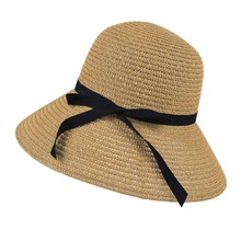Hot New Fashion Summer Casual Women Ladies Wide Brim Beach Sun Hat Elegant Straw Floppy Bohemia Cap For Women Dating DM#6