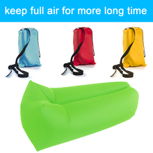240*70cm Inflatable Lazy Bag Air Banana Sofa 190T Nylon Laybag Air Sleeping Bag Camping Air Lounger Portable Beach Bed Lazy Bag