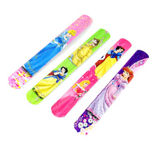 12PCS Princess Slap Bracelets Kids birthday party supply gift for girl souvenirs baby shower favors(China)