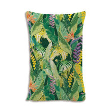 2019 Nordic green plant print pillow case home decorative pillow 30x50cm cotton linen couch cushion flower bedding pillowcase(China)