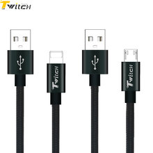 Nylon Braided Micro USB cable Fast Charger Cable For iPhone7 6 6s 6 Plus 5 5s Xiaomi huawei Sony Samsung Mobile phone cables