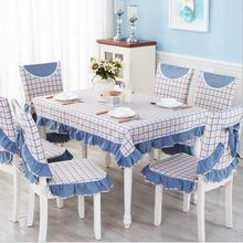 Hot sale lattice models cotton linen tablecloths British style table cloth high-quality tablecloth hotsale