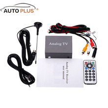 Car Mini Monitor DVB Analog TV Tuner DVD Box TV Receiver Easy Installation Strong Signal Box with Antenna(China)