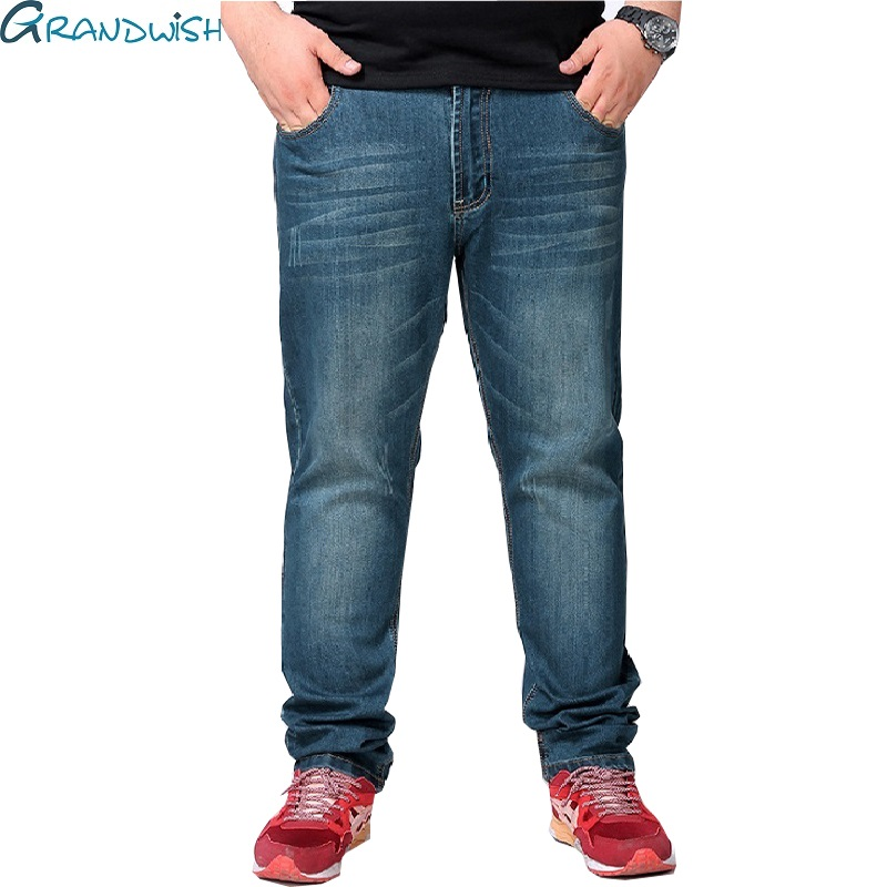 Grandwish Mens Big Jeans Vintage Loose Fit Mens Denim Jenas Pants Plus size 48 Mens Loose Straight Jeans Pants Big Size ,PA816Одежда и ак�е��уары<br><br><br>Aliexpress