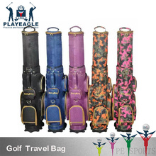 Golf Travel Bag with Wheel Waterproof Nylon Golf Bag Flexible Top 3D OEM Logo Standard Golf Course Bag for Golfers(China)
