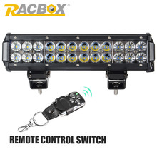 RACBOX 12 inch 72W 3D 5D LED Work Light Bar With LED Chips Flood Spot Combo Beam For Offroad ATV SUV 4WD Boating Truck Tractor(China)