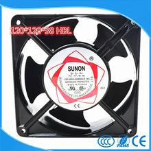 SUNON Copper 12038 HBL AC 220 Axial flow fan 120mm 120*120*38mm Industrial Cooling Fan 2 Wires double ball bearing(China)