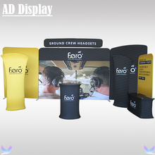 20ft Exhibition Booth High Quality Stretch Fabric Display With Single Side Banner Printing,Portable Advertising Fabric Wall