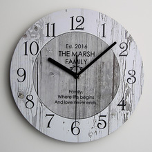 Shabby Chic Large Wooden Kitchen Wall Clock New Home Vintage Wall Clock