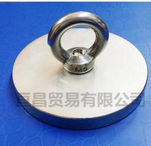 Pulling Lifting Magnet Dia 80mm Holder Magnetic Pot w/. ring Strong Neodymium Permanent deep sea salvage magnet D80*10-10mm(China)