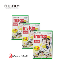 60 Sheets Film Fuji Instax Wide Camera Photo Paper Fujifilm Mini 8 50s 7s 90 25 Camer Genuino Instant CAM 35mm Film Instantanea