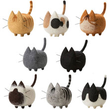 1 Set Non-finished Cats Felting Poke DIY Felt for Needles No Face Cats Material Package Wool Felt Poked Doll Free Shipping(China)