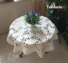 83cm Modern rectangular Satin dining Tablecloth transparent tea lace Table Cover cloth towel manteles mat Garden Wedding Decor