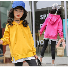 character hooded spring coats baby big girl news 2018 tops clothing kids patchwork sports jackets for teenage girls outerwears(China)