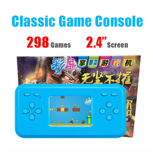 "Classic Game Console with 298 Games 2.4"" Color Screen Pocket Hand-held Game System Educational Toys for Children Kids Boy"