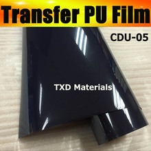 CDU-05 Dark blue transfer pu vinyl for clothes , heat transfer materails for fabric, transfer pu film by free shipping