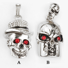 Amthin Metal Diamond Skeleton Head Skull Chain USB Flash Drive USB2.0 Pen Drive 32g Memory USB Stick U Disk Pendrive 16g 8g 4g