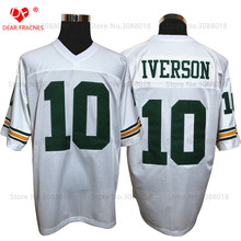 Cheap Shirt for Mens American Football Jerseys Bethel High School #10 Allen Iverson Jersey Throwback Jerseys Retro Red Stitched(China)