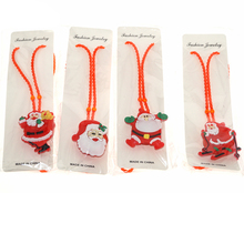 5PCS Christmas Decoration LED Flashing Hair Clip Finger Rings Glowing Snowman Santa Bracelet Light Up Necklace Party Supplies(China)