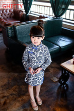 Wear a 2016 China style cotton flowers on behalf of children cheongsam dress collar SY006
