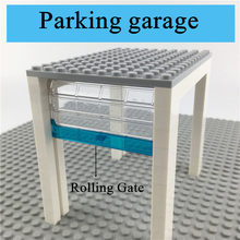 Dubbi diy building blocks paking garage with Rolling Gate house accessories blocks compatible with Legoe for gift (China)