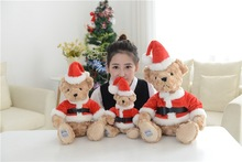 new arrival stuffed plush toy lovely teddy bear plush toy dressed Christmas clothes bear doll throw pillow,christmas gift b1457(China)
