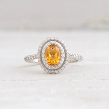 LASAMERO Ring For Women 14k rose gold Natural 7x5mm Citrine Oval Cut Citrine Classic Solitaire  Engagement Ring