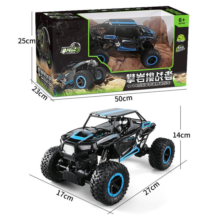 1:14 2.4Ghz Rock Crawler 4 Wheel Drive Radio Remote Control RC Car Green blue New 2017 Remote Control rc car kids boys #52