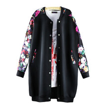2017 New Autumn jacket women Cardigan fashion loose baseball uniform casual women coats Plus size casacos feminino