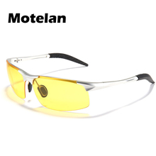 2017 Authentic Polarized Glasses Mirror Night Vision Driving Glasses Men's Yellow lens Sunglasses Reduce Glare 3 Colors 9177
