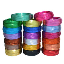 10 Meters / Roll 1mm Round Plated Aluminium Craft Floristry Wire For Jewellery Beads Making Findings Braided material 20 colors