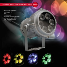 Eyourlife Outdoor 6X10W RGBW 4in1 Mini LED PAR Light IP65 DMX Waterproof PAR36 Stage Lighting DJ Disco Party Lights Free ship