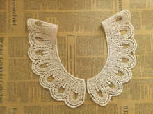 1 Pair False collar necklace wholesale beige lace collar spring autumn skirts T-shirts doll diy clothing accessories